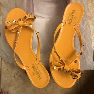 Tangerine Valentino Sandals